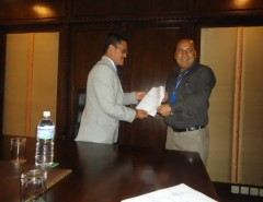 Certificate Distribution of Aviation Training